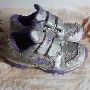 Girls Purple and Silver Running Shoes